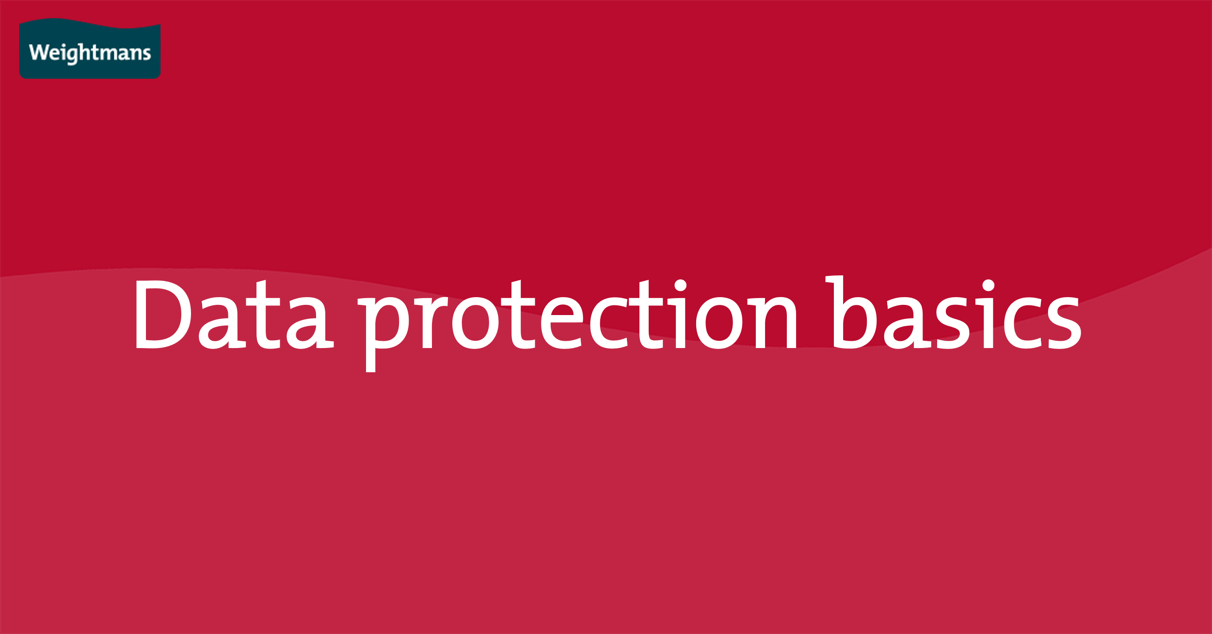 An employer's guide to GDPR | Weightmans